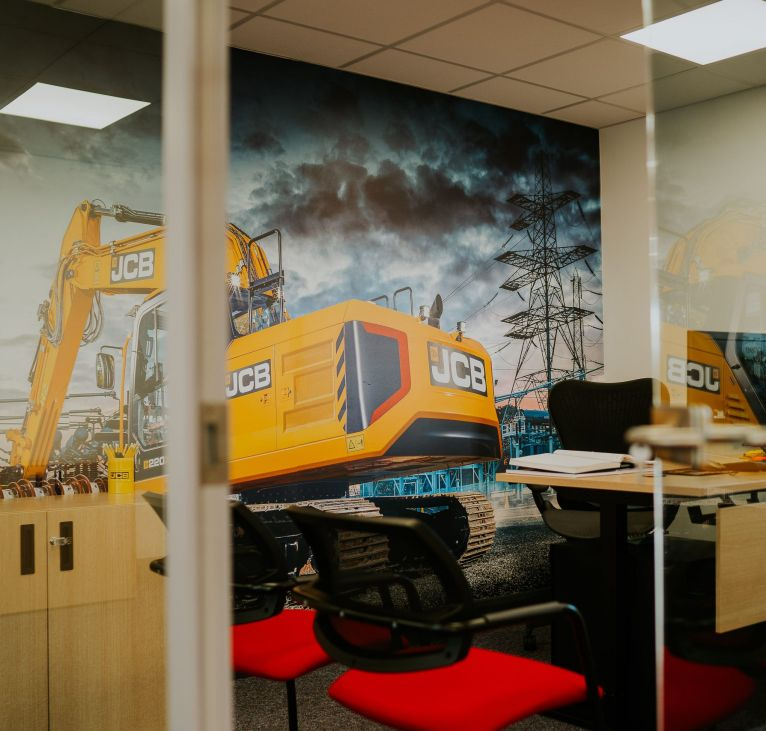 JCB Modular Building glass office space close up