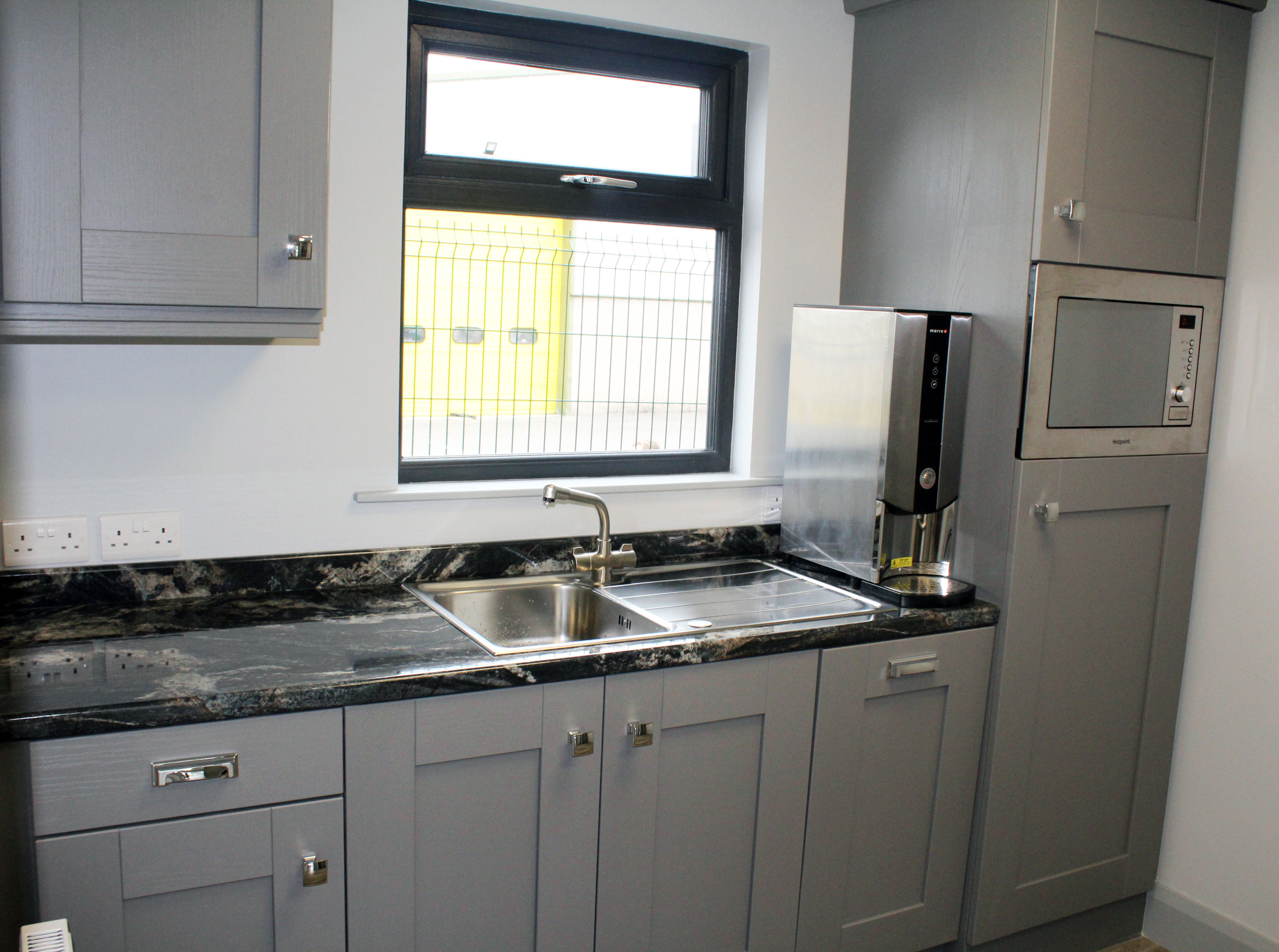 Modular Office Kitchen with built in appliances