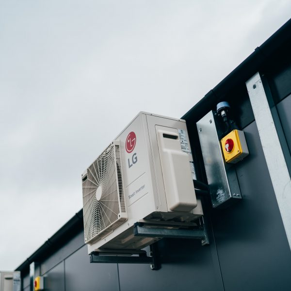 KES Group Modular Buildings with Air Conditioning Systems Installed