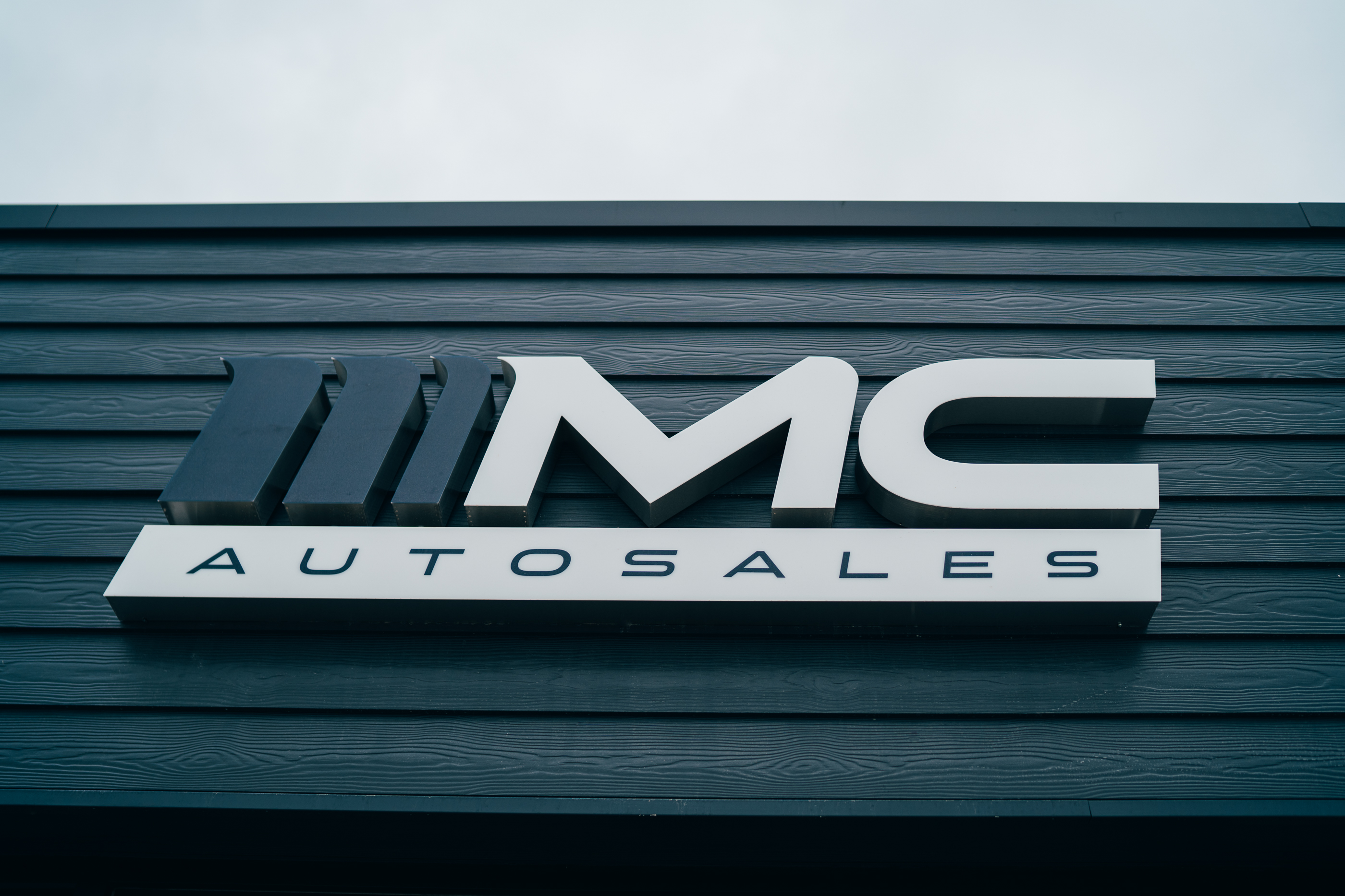 KES Group Modular Office Building MC Auto Sales Signage