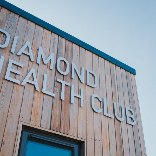 Modular Gym Building with Larch Cladding finish for Diamond Health Club, Belfast, KES Group