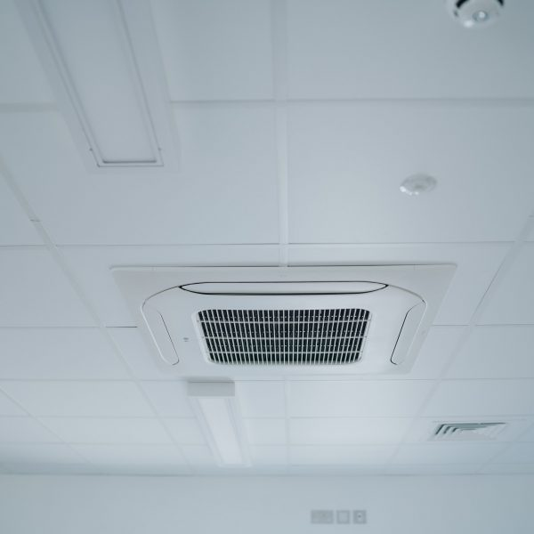 KES Group, Modular Construction Company, Ceiling Cassette Air Conditioned Heating and Cooling System