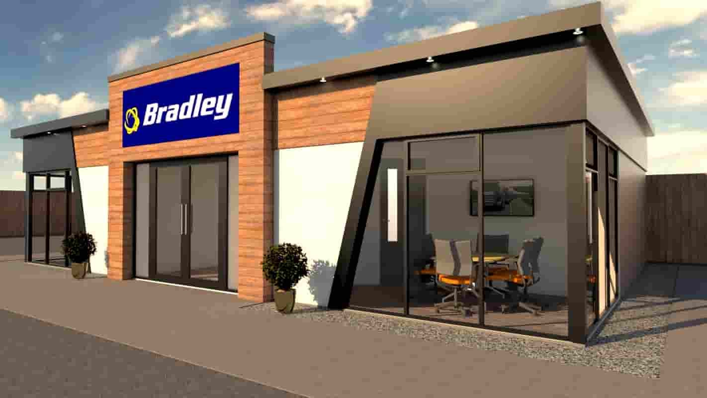 KES Group bradley transport modern modular office building