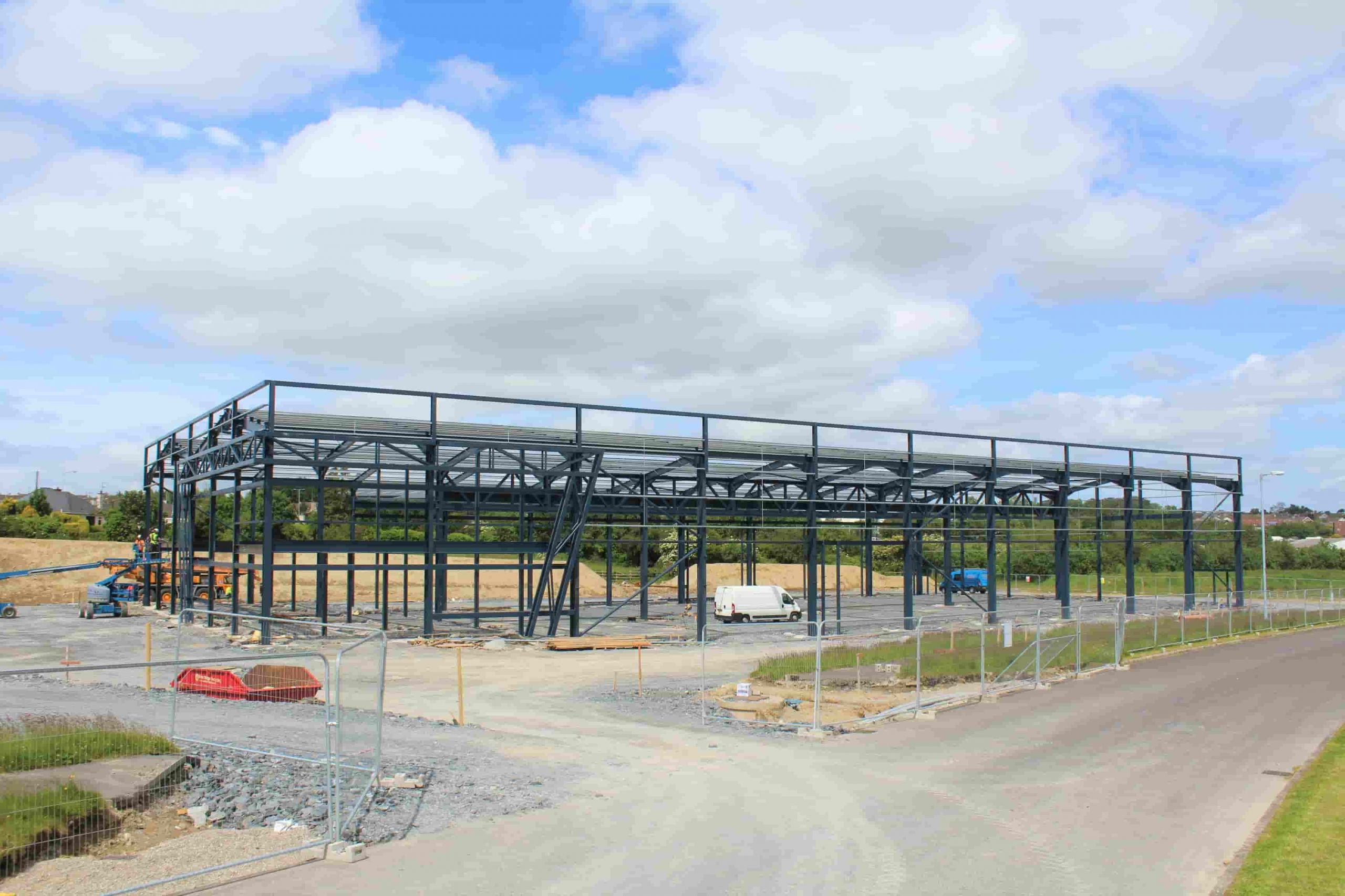 KES Group, New Factory, Steel Framework, Strabane