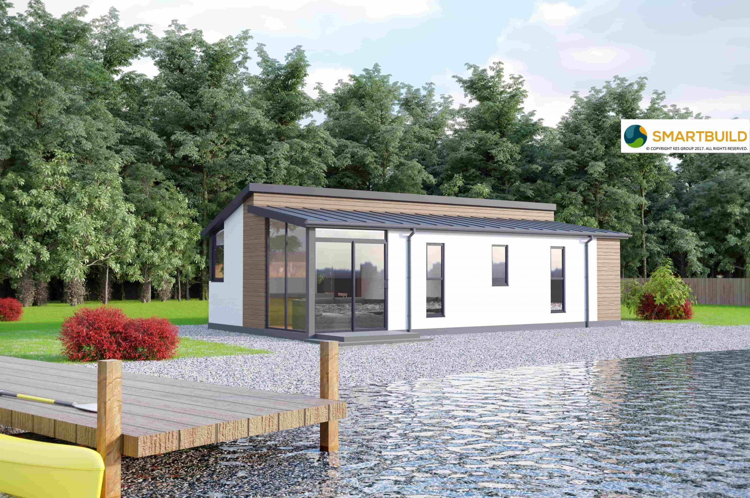 KES Group Modular home with view