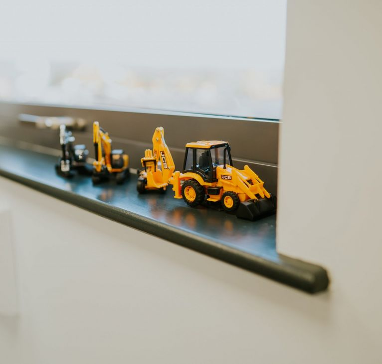 toy yellow jcb diggers modern construction