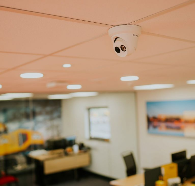 camera modular business office white ceiling