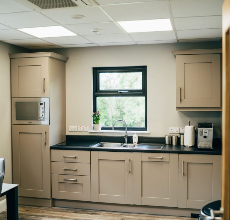 SmarBuild office kitchen turnkey package KES Group Modular Building System