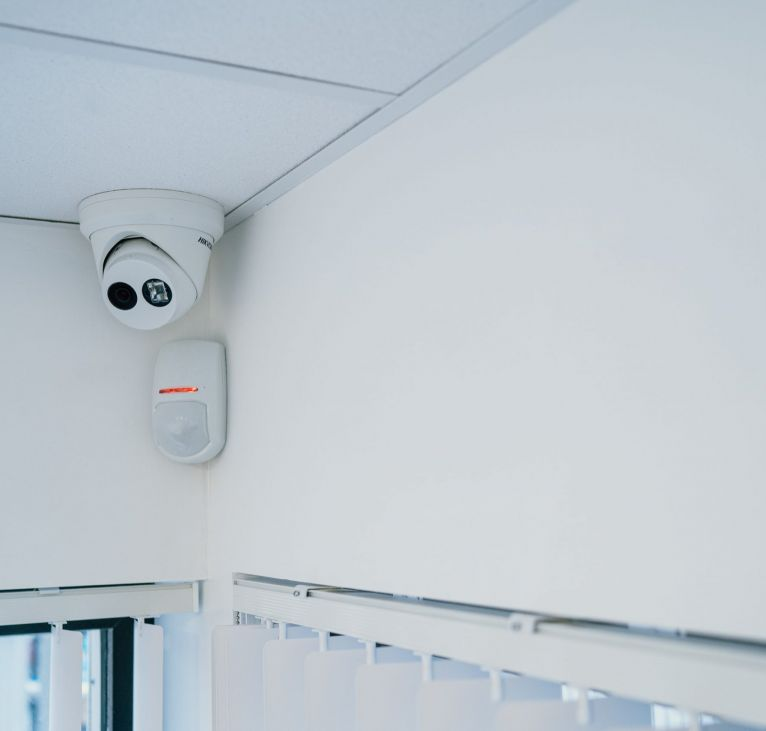 security camera fitting modular office kes