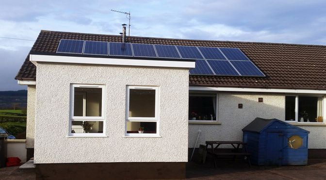 solar panels outdoor house