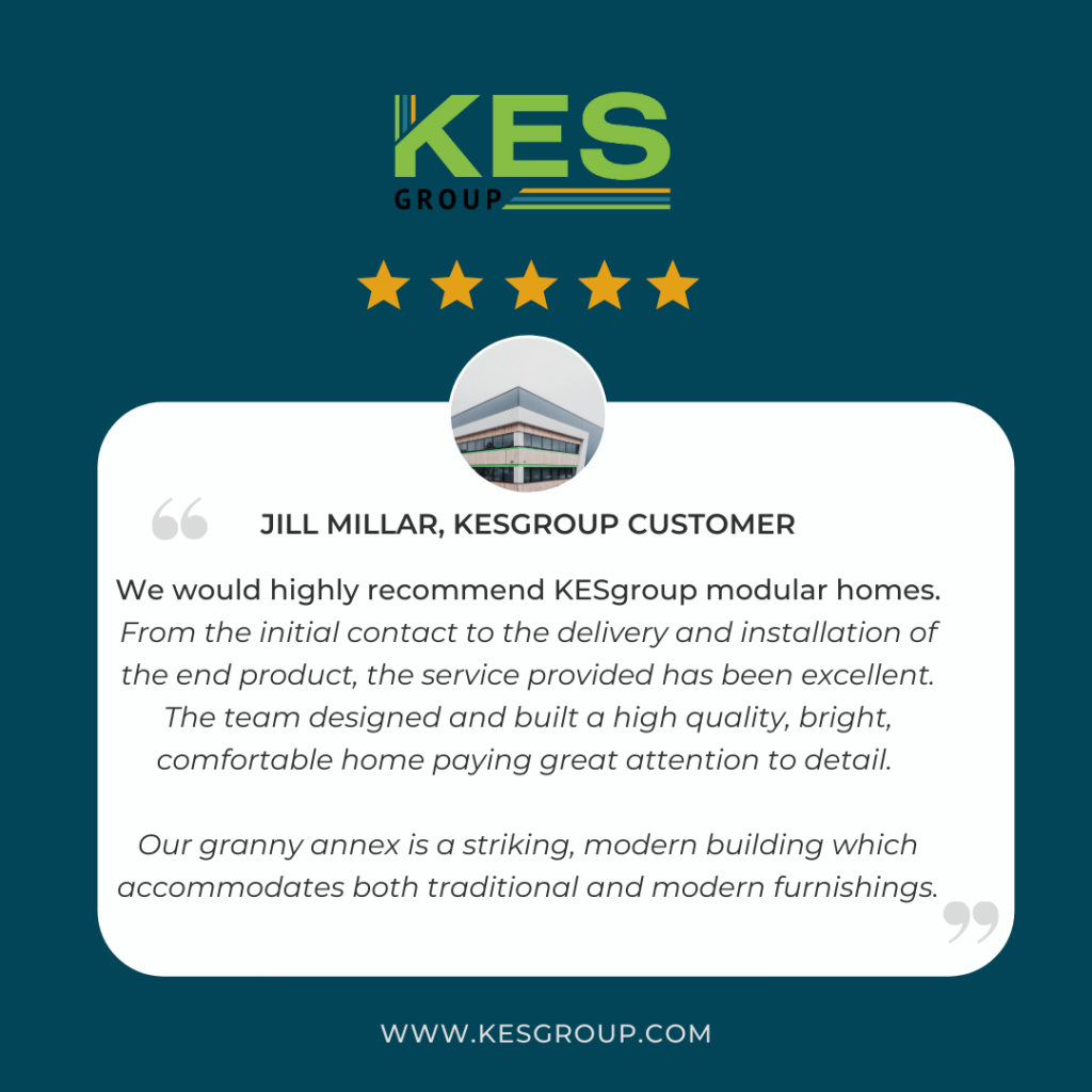 Positive review from a KES Group customer.