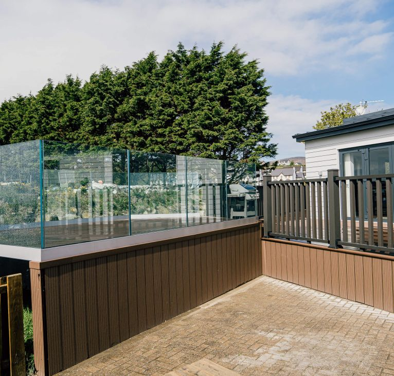 decking wood class surrounding holiday home