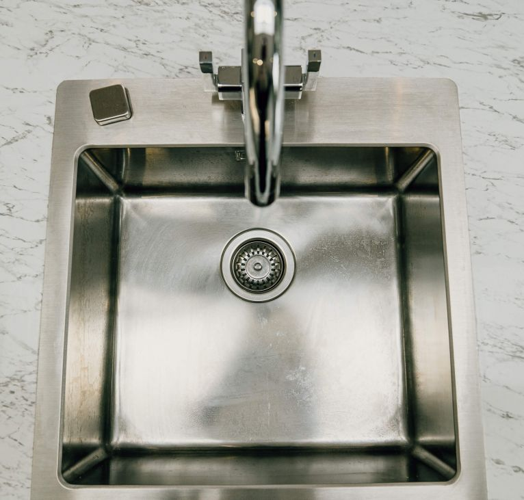 grey stainless steel tap