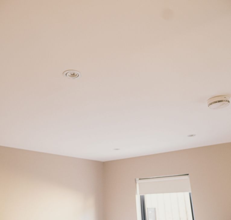 modular roof fire system white